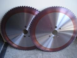 Carbide Tipped and Cermet Tipped Saw Blades designed for high production cutting of stainless steel bar, carbon steels, alloy steels, forged steel