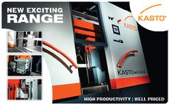 Kasto fully automated bandsaws for mass production cutting or sawing.
